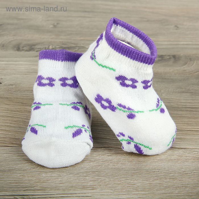 Носки детские Collorista Цветы, M/1-2 г., цвет микс