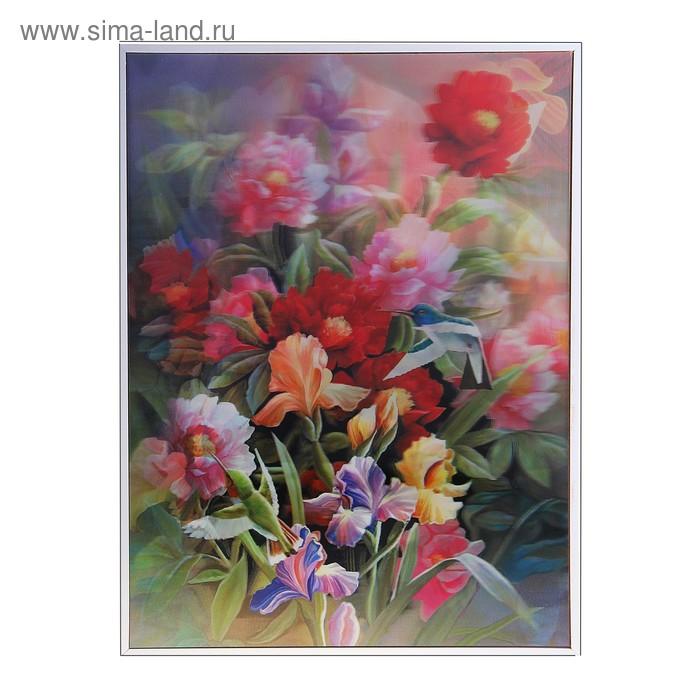"Картина объёмная 3D ""Цветы"""