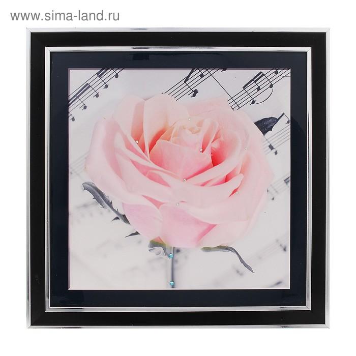 """Картина """"Вдохновение"""" роза на нотах"""