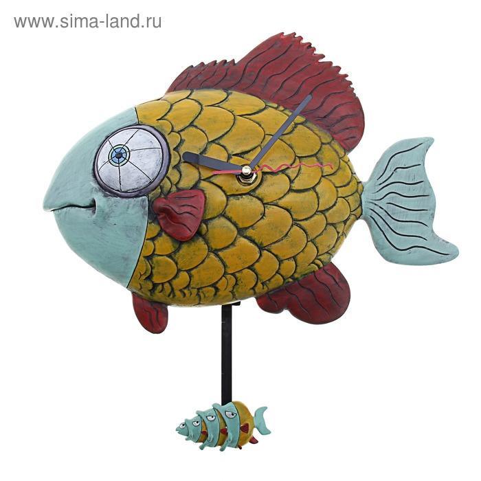 """Часы настенные детские с маятником """"Рыбка"""""""