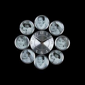 """Часы настенные, 8 фоторамок """"Классика"""""""