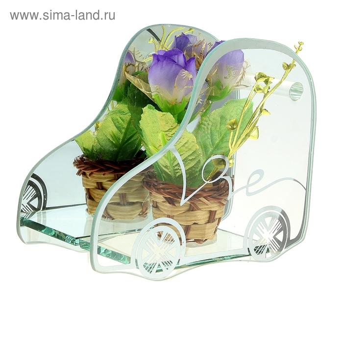 """Декоративная ваза """"Калипсо"""" машинка, корзина роз"""