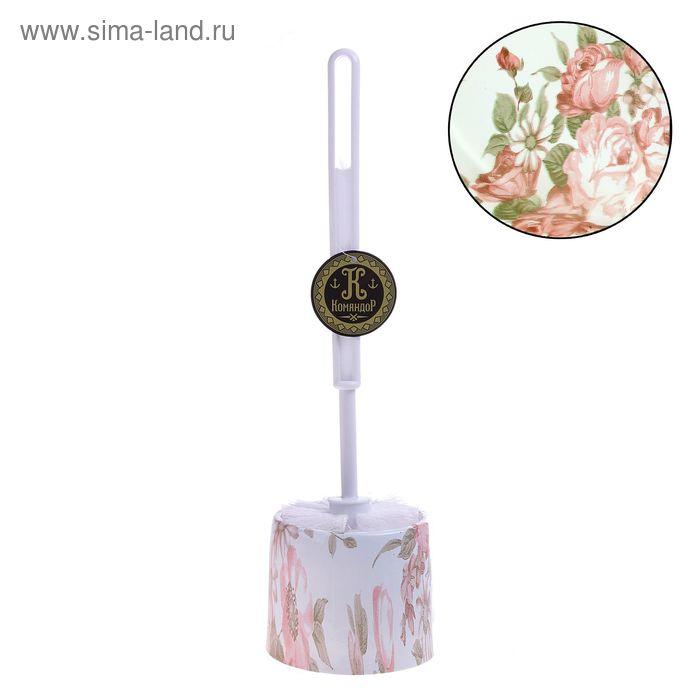 """Ершик для унитаза с подставкой 34х9,5 см """"Розовый куст"""""""