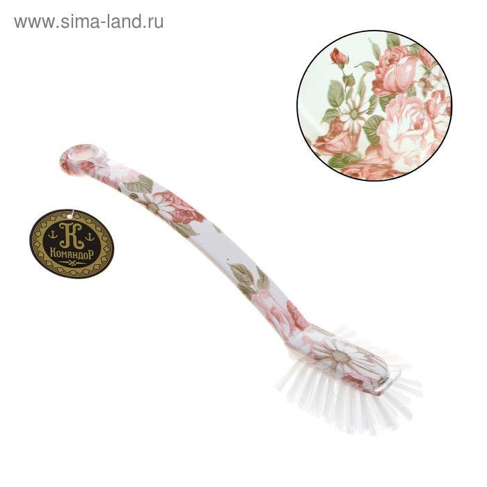 """Щетка для посуды прямоугольная """"Розовый куст"""" 25 см"""
