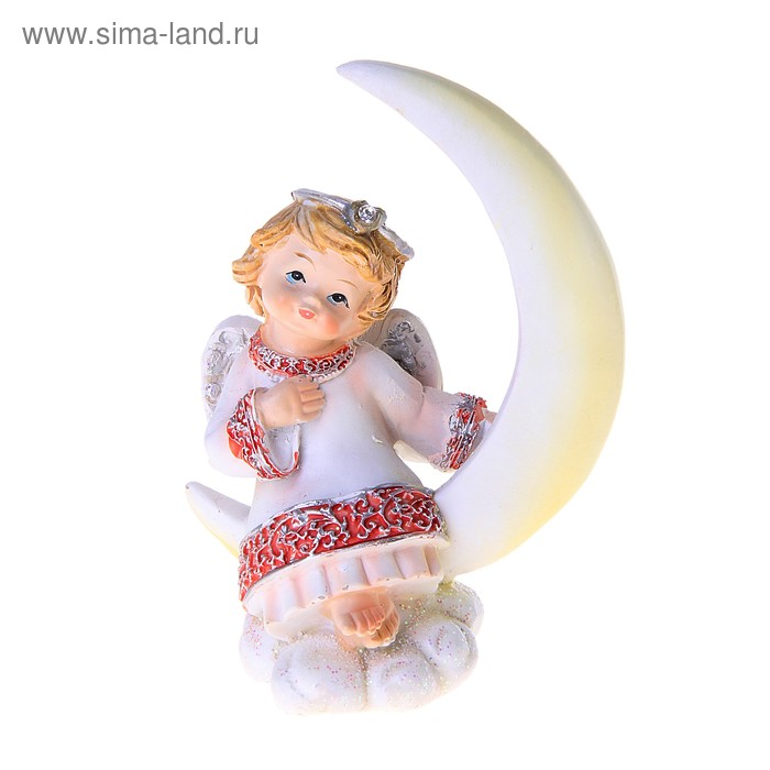 """Сувенир """"Ангелочек в розово-голубом платье на Луне"""", МИКС"""