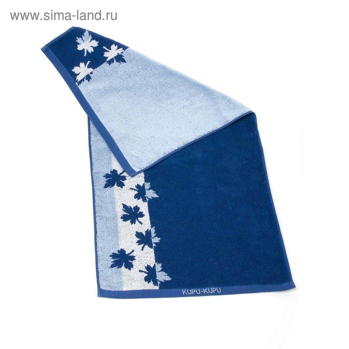 "Полотенце махровое Купу-Купу ""Канада"", размер 70х130 см, 420 г/м2, цвет синий"