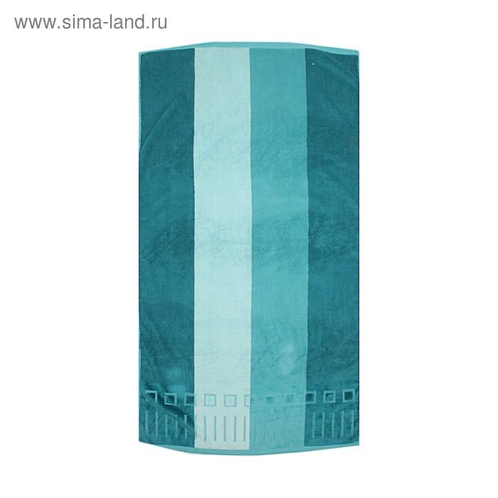 """Полотенце махровое Купу-Купу """"Винстон"""", размер 70х135 см, цвет бирюзовый, хлопок 100%, 420 г/м2"""