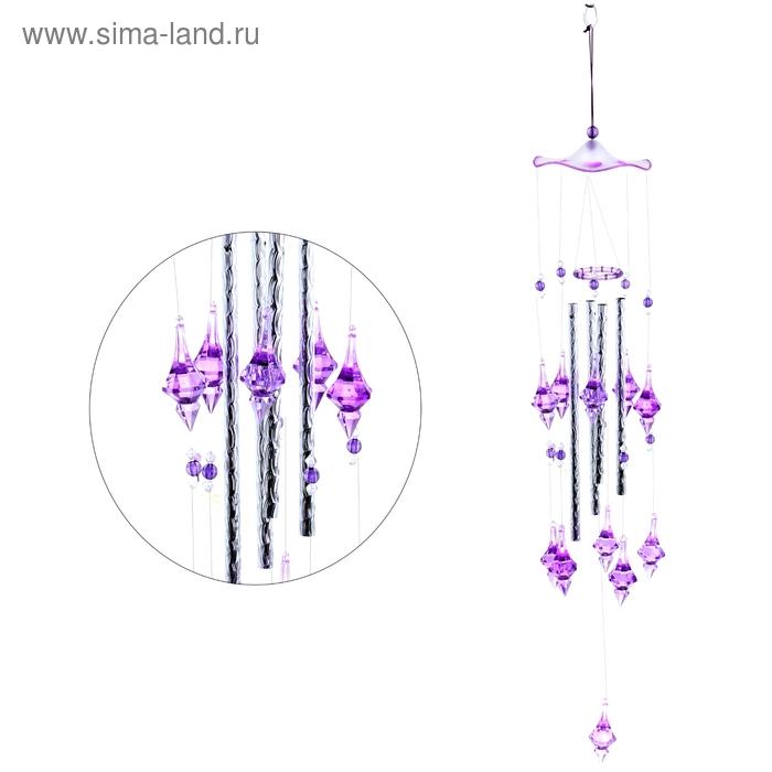 """Музыка ветра """"Кристаллы"""" 4 трубочки, 11 фигурок"""