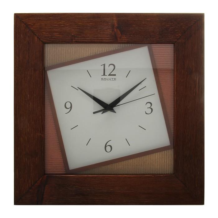 """Часы настенные квадратные """"Асимметрия"""", деревянные"""