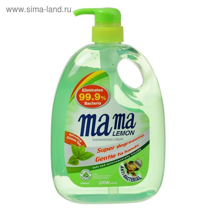 """Концентрированый гель для мытья посуды и детских пренадлежностей MAMA LEMON """"Зеленый чай"""" 1000 мл"""