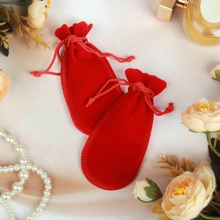 Мешочек бархатный универсальный, 12*5 см, цвет красный