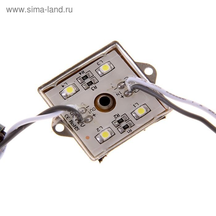 Светодиодный модуль SMD3528, 4 LED, 35x35x4, IP65, БЕЛЫЙ