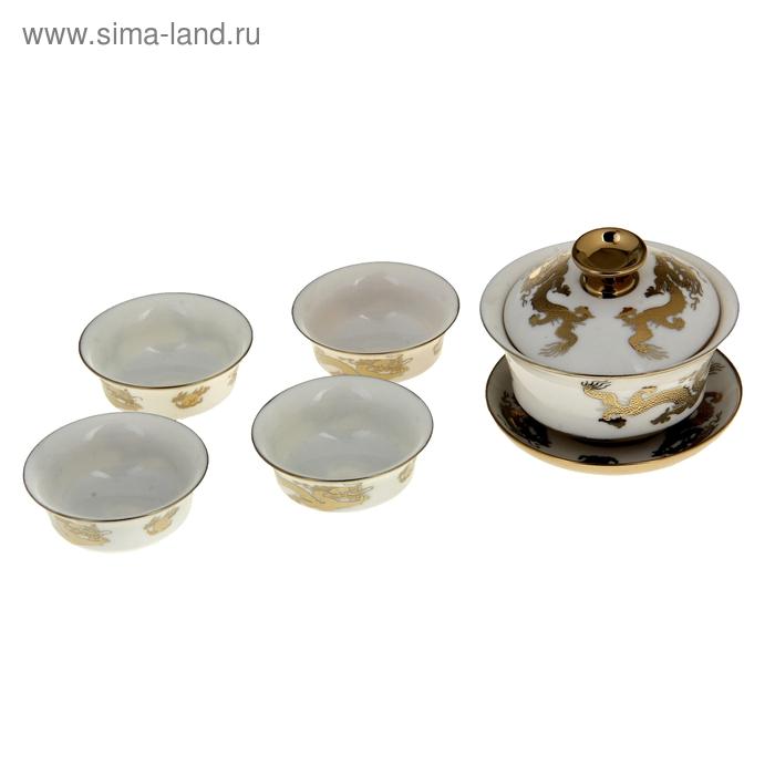 """Набор для чайной церемонии 5 предметов """"Империя. Дракон"""" (чайник 180 мл, чашка 50 мл)"""