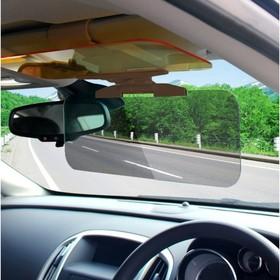 Крепление на козырек авто с защитой от встречных фар и солнечных лучей