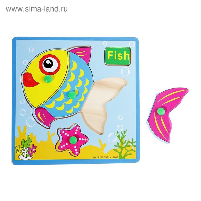 """Рамка-вкладыш малая """"Рыбка"""", 4 элемента"""