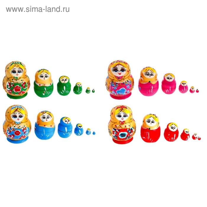 """Матрёшка 6 в 1 """"Яркие маки"""" цвета МИКС"""