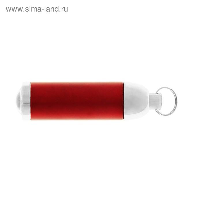Фонарик на кольце, 1 диод, цвет красный
