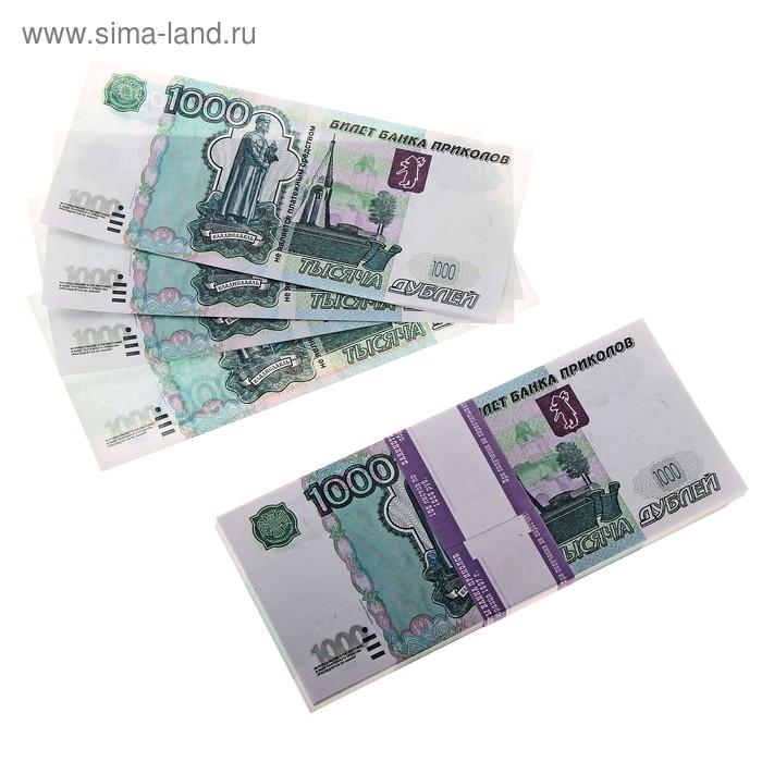 Пачка купюр 1000 руб минигигант