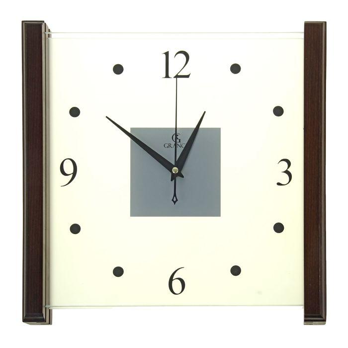 """Часы настенные деревянные """"Grance"""", циферблат римский цифры"""