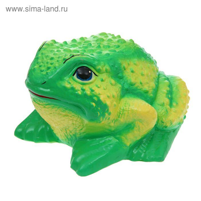 "Садовая фигура ""Жаба"" зелёно-жёлтая"