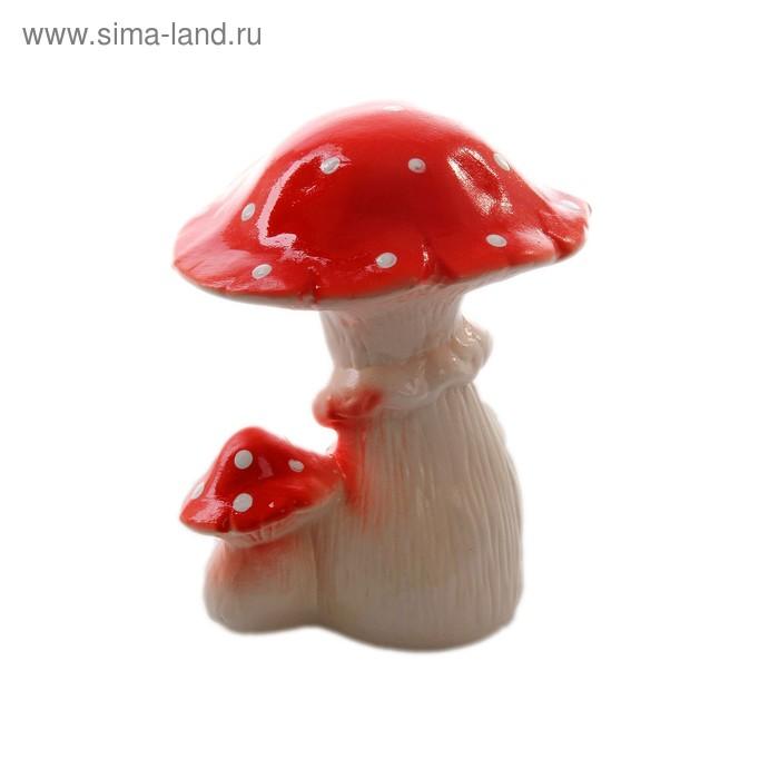"""Садовая фигура """"Пара грибов мухоморов"""" малая"""