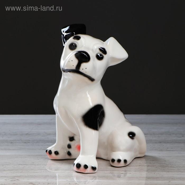 """Копилка """"Собака Рэкс"""" глянец, белая"""
