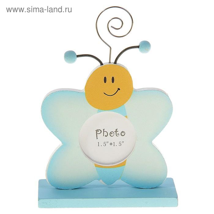 """Фоторамка - визитница на подставке """"Бабочка"""", фото 4 × 4"""