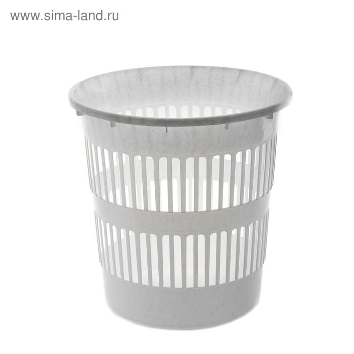 Корзина для мусора 11 л, цвет мраморный