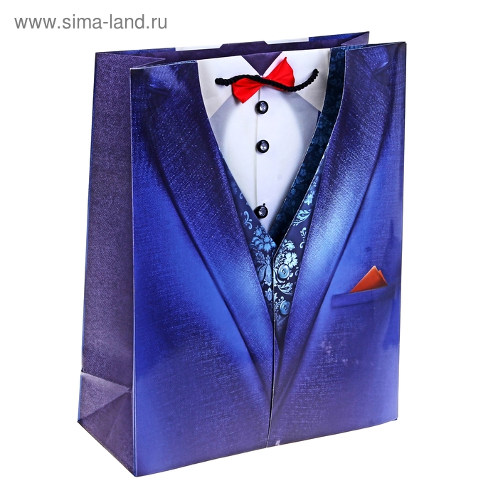 Пакет ламинат с открыткой «Джентльмен», 29 х 37 см