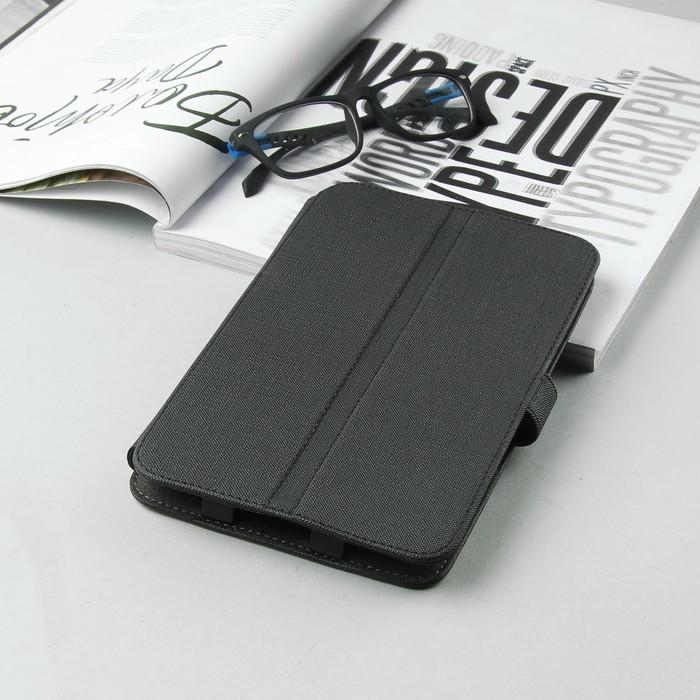 """Чехол-книжка для планшета, универсальный, 7"""", цвет чёрный"""