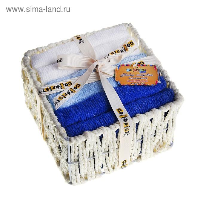 Набор полотенец White-blue 30*30 см - 6 шт