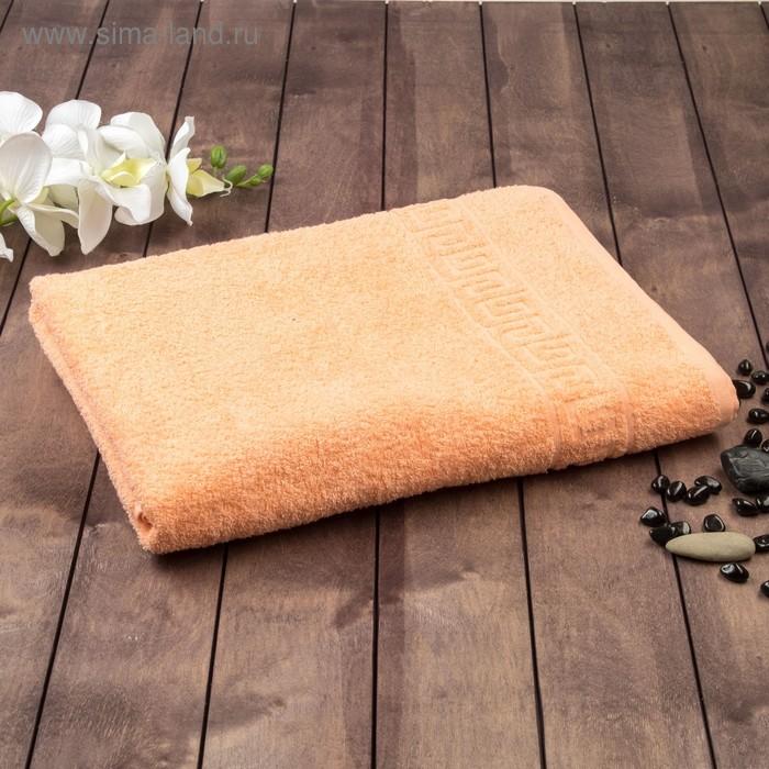 Полотенце махровое однотонное Антей цв персиковый 50*90см 100% хлопок 400 гр/м