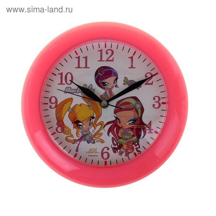 """Часы настенные круглые """"PopPixie"""", детские фуксия"""