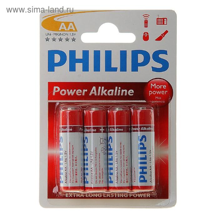Батарейка Алкалиновая  Philips Power Alkaline, АА, LR6-2BL, блистер, 2 шт.