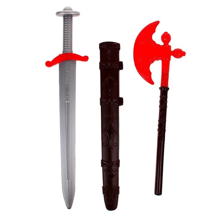 """Набор """"Ратник"""", секира и меч с чехлом"""
