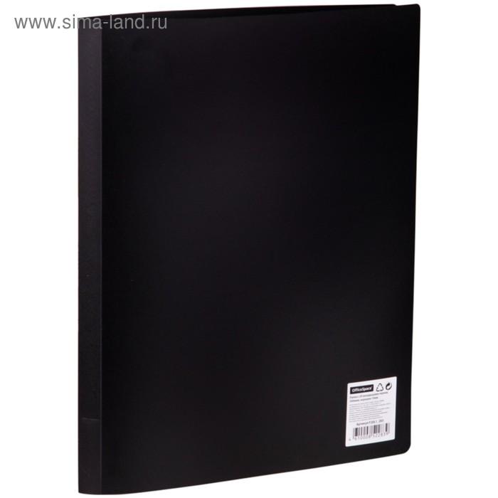 Папка с 20 прозрачными вкладышами А4, 500мкм, черная