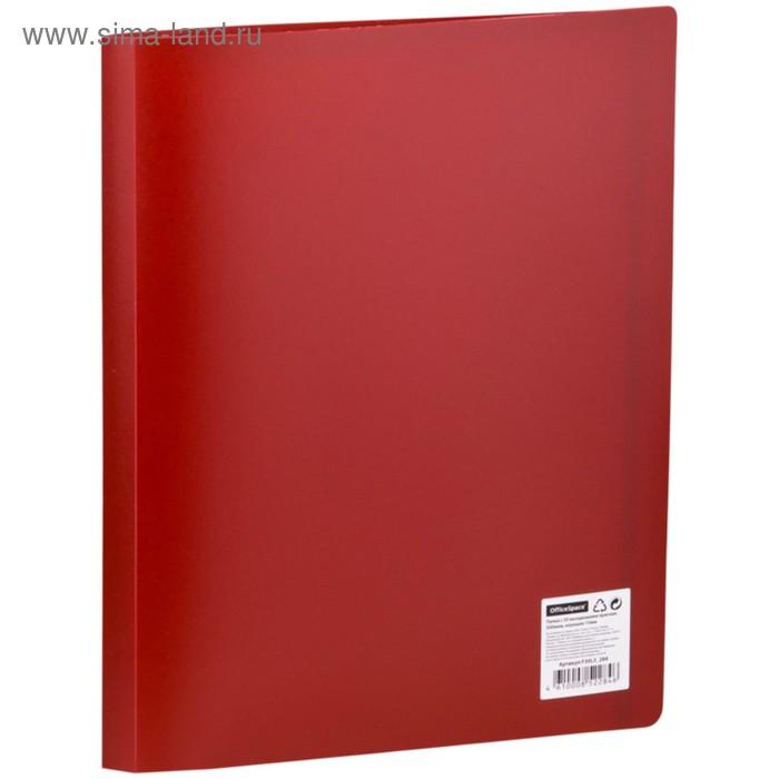 Папка с 30 прозрачными вкладышами А4, 500мкм, красная