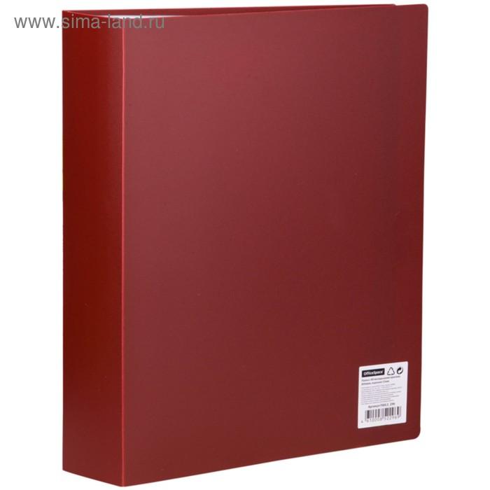 Папка с 80 прозрачными вкладышами А4, 800мкм, красная