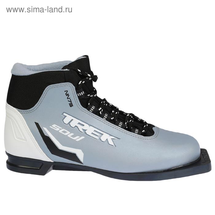 Ботинки лыжные TREK Soul NN 75 ИК (серый металл NN 75 ИК, лого черный) (р. 41)