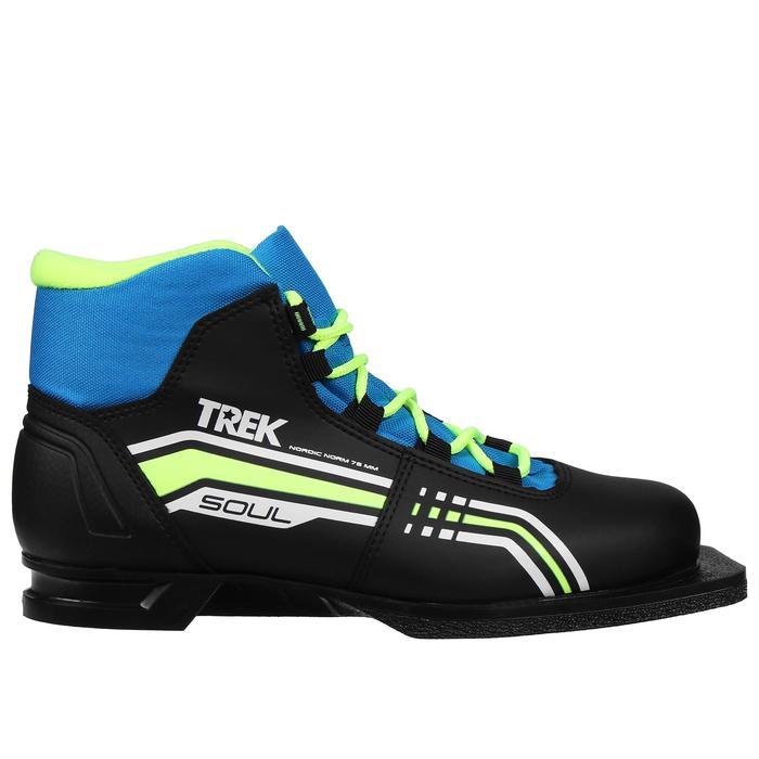Ботинки лыжные TREK Soul NN 75 ИК (черный, лого синий) (р. 43)