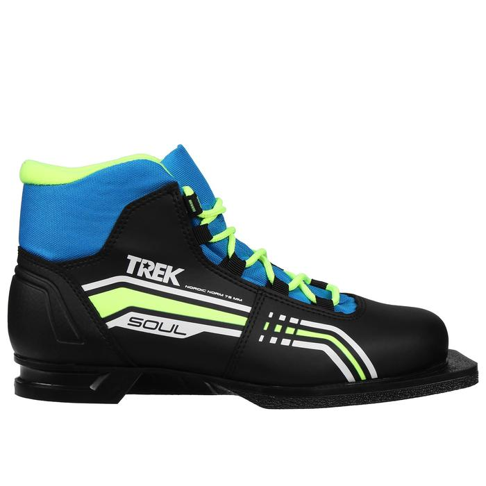Ботинки лыжные TREK Soul NN 75 ИК (черный, лого синий) (р. 42)