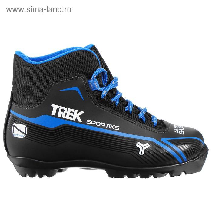 Ботинки лыжные TREK Sportiks NNN ИК, размер 45, цвет: черный