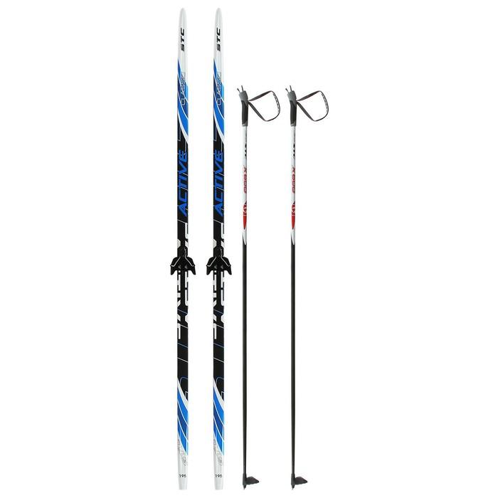 Комплект лыжный БРЕНД ЦСТ (Step, 195/155 (+/-5 см), крепление: 0075 мм), цвета МИКС