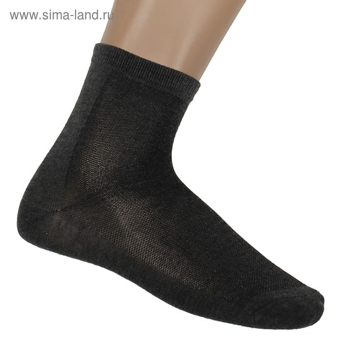 "Носки мужские ""Collorista basic"", размер 43-46, т.-серый СС001"
