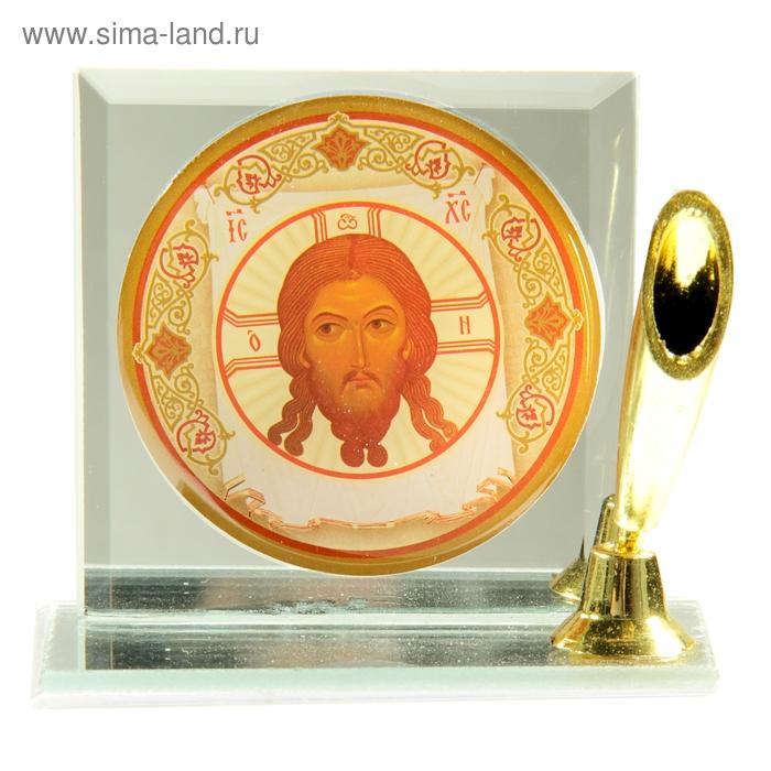 """Подставка для ручки с иконой """"Спас Нерукотворный"""""""