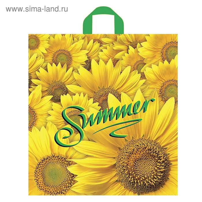 """Пакет """"Цветы лета"""" полиэтиленовый, с петлевой ручкой, 38х42 см, 37 мкм"""