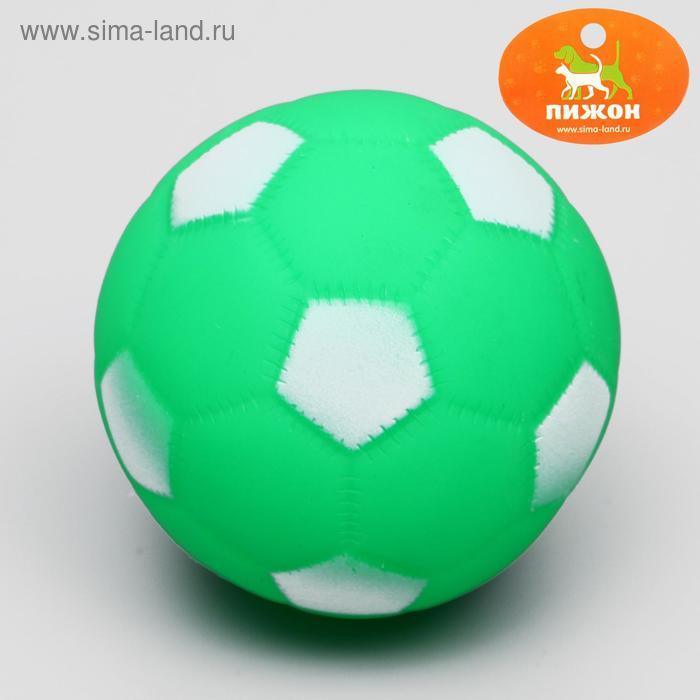 """Игрушка резиновая пищащая """"Мяч Футбол"""", 6,5 см, микс цветов"""