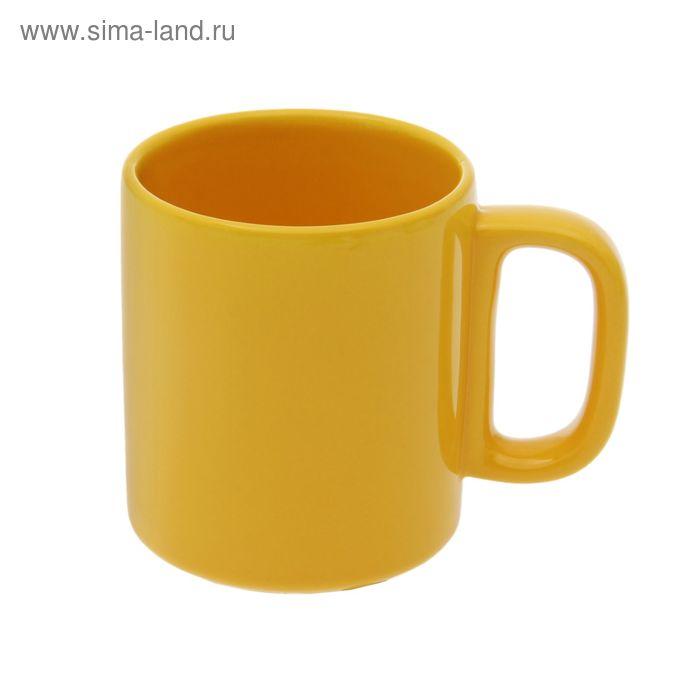 Кружка 280 мл, цвет желтая