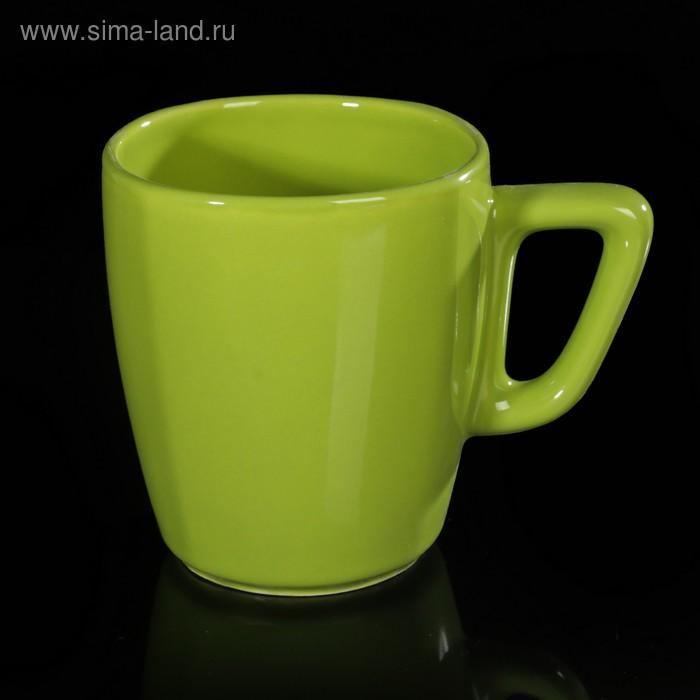Кружка квадратная 250 мл, цвет зеленый