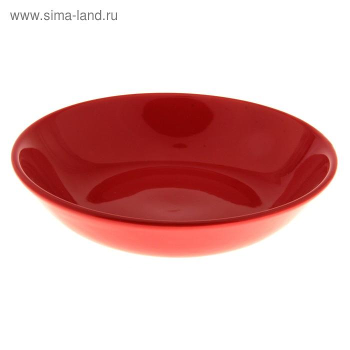 Тарелка глубокая d=18 см, цвет красный
